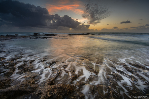 Seascape image of Achziv Beach in northern Israel by photographer Tom Shapira