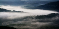 Morning Mist in the Jerusalem Mountains