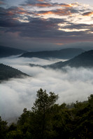 Landscape photo of a Foggy valley on the Mountains of Jerusalem in Israel by photographer Tom Shapira