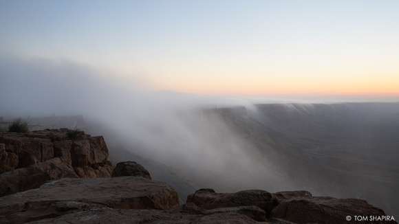 Ramon Crater, Summer's Fog (1)