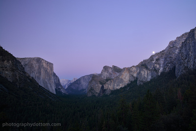 Tunnel View, Moonrise